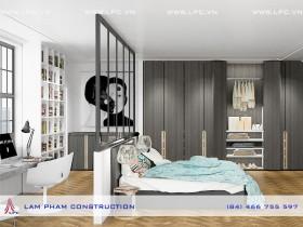 Nội thất phòng ngủ con – Biệt thự ông Giáp