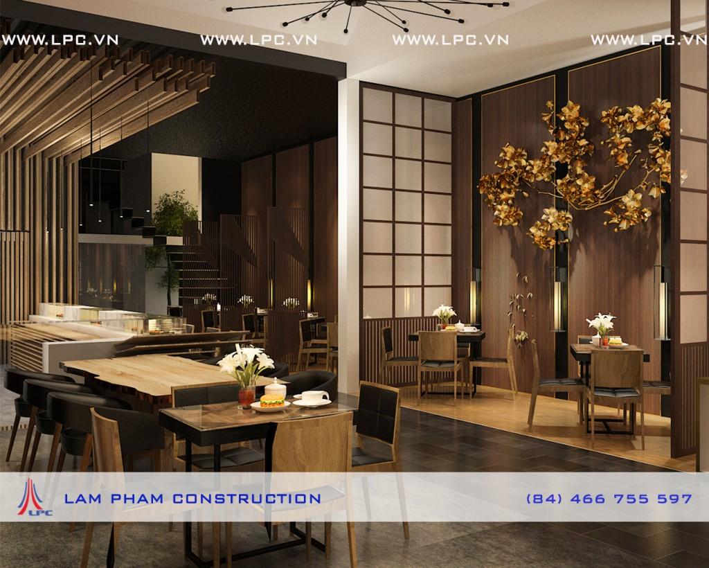 Nhà hàng Nhân Sushi – nội thất khu ăn