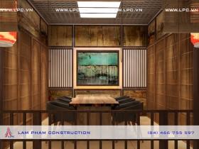 Nhà hàng Nhân Sushi – nội thất phòng VIP