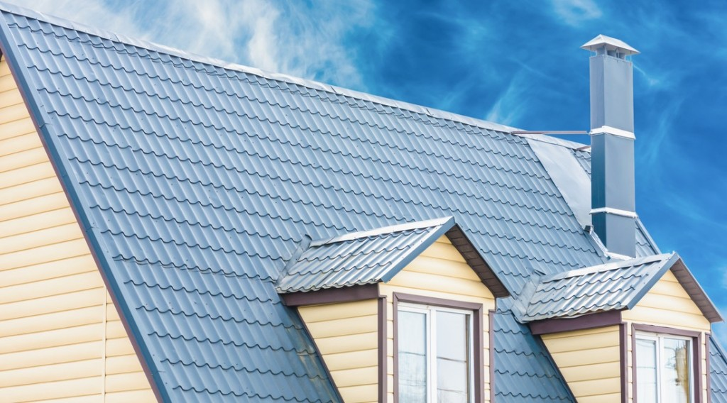 blue roofing