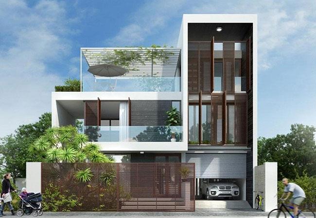 Hình ảnh Thiết kế kiến trúc nhà phố đẹp 1