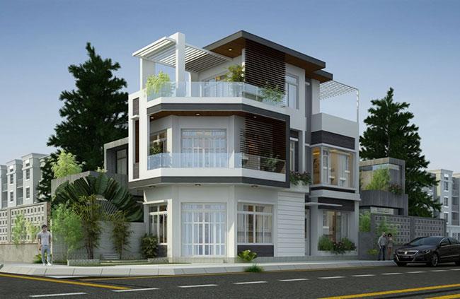 Hình ảnh Thiết kế kiến trúc nhà phố đẹp 3