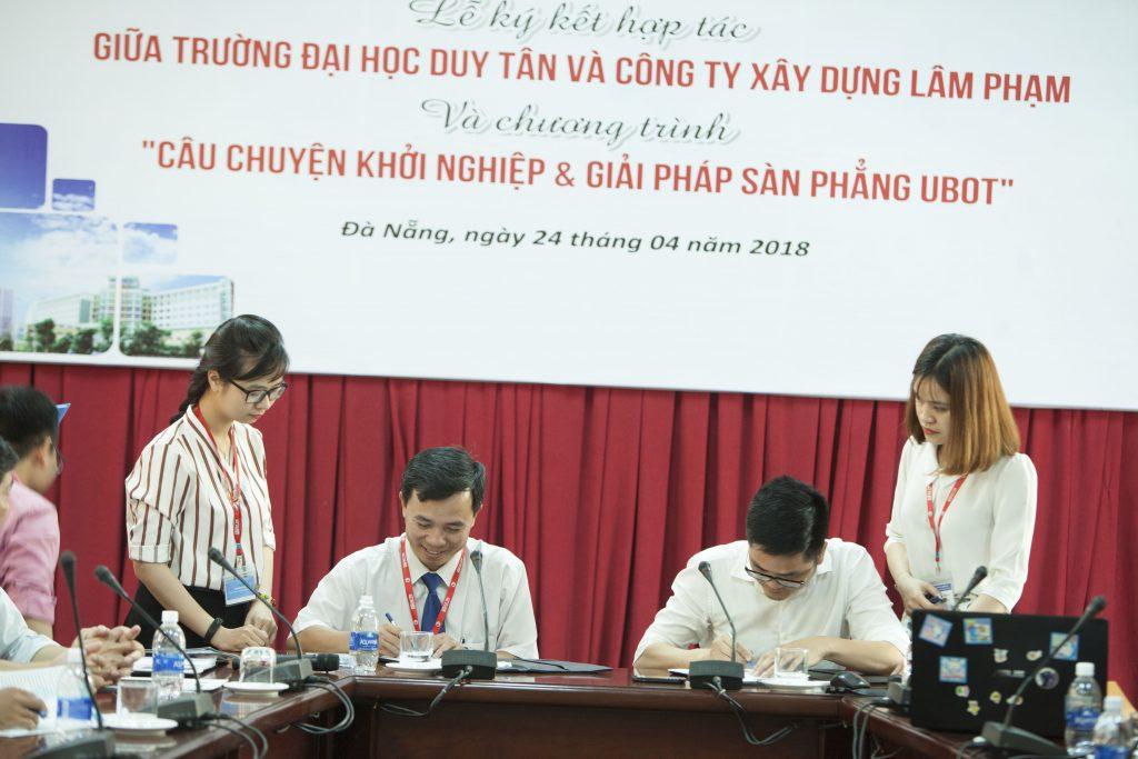 Công ty TNHH Xây dựng Lâm Phạm ký kết hợp tác với Đại học Duy Tân