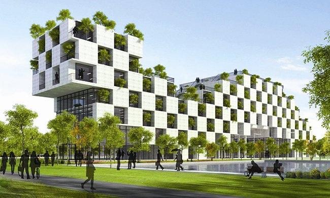 Hình ảnh bảo vệ môi trường trong ngành bằng công nghệ xây dựng mới 4