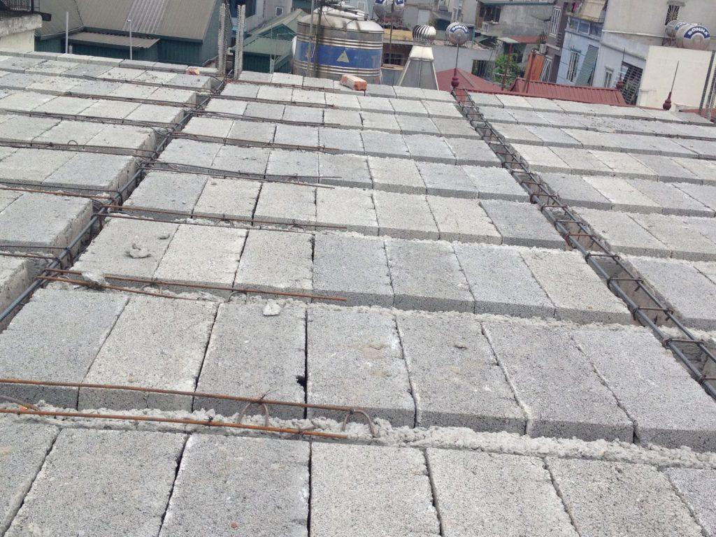 sàn bê tông siêu nhẹ làm trần nhà