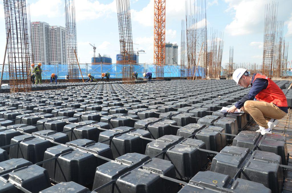 Sàn phẳng được ứng dụng nhiều trong các công trình kiến trúc hiện nay